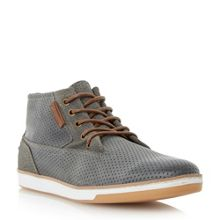 Dune Scooby perforated hi top trainers