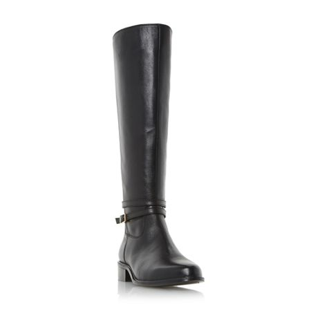 Dune Taro buckle knee high riding boots