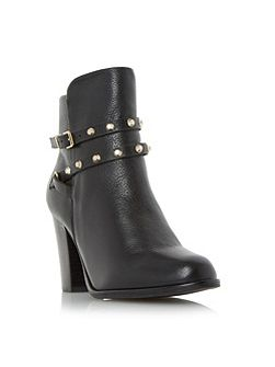 Padro studded block heel ankle boots