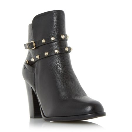 Dune Padro studded block heel ankle boots