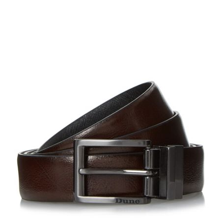 Dune Orkley saffiano leather reversible belt