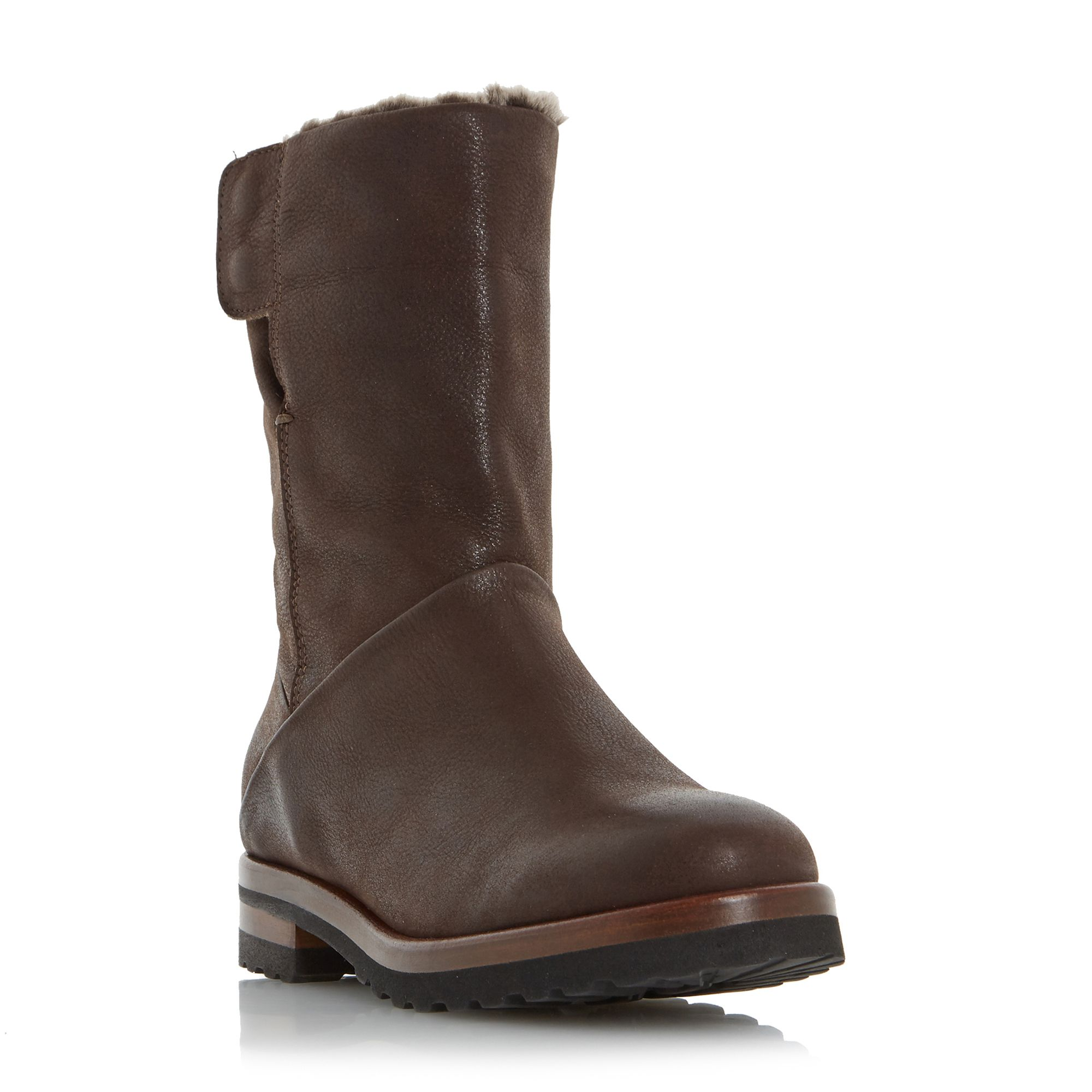 Dune Rayner fur lined biker boots Brown