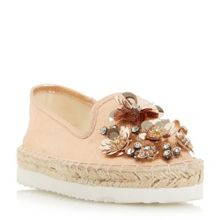 Head Over Heels Enista floral embellished loafers