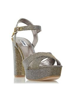Mahikie diamante strap high heel sandals
