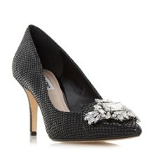 Dune Behold jewelled pointed toe court shoes