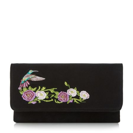 Dune Brodey embroidered clutch bag
