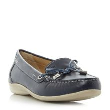 Geox YUKI Lace Detail Bow Front Loafers