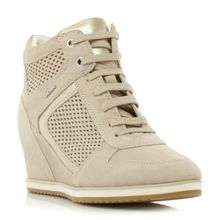 Geox ILLUSION B Lace Up Punched Trainers