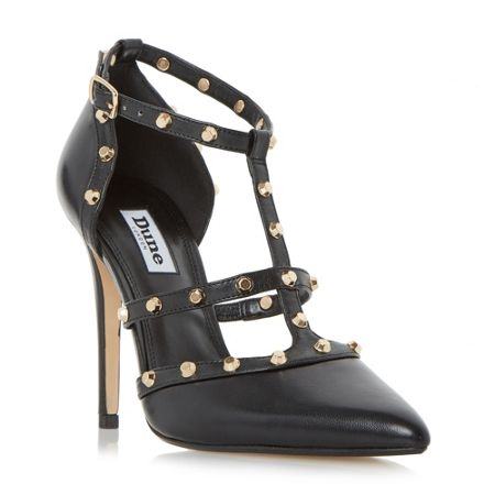Dune Daenerys studded court shoes