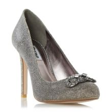 Dune Barbi jewel trim round toe court shoes