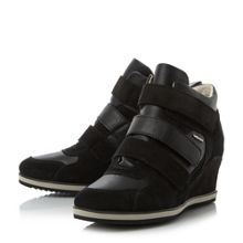 Geox ILLUSION D Velcro Sporty Wedge Trainers