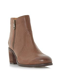 Pryce side zip block heel ankle boots