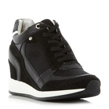 Geox NYDAME Zip Side Lace Up Wedge Trainers