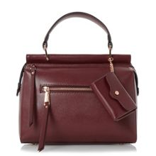 Dune Damille front zip detail top handle bag