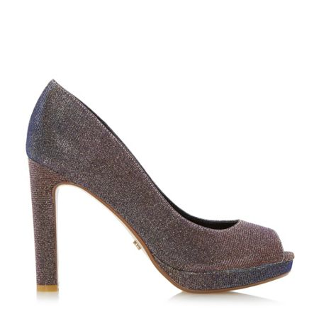 Dune Dulsie platform peep toe court shoes