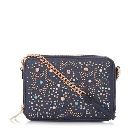 Dune Dazzler star embellished cross body bag