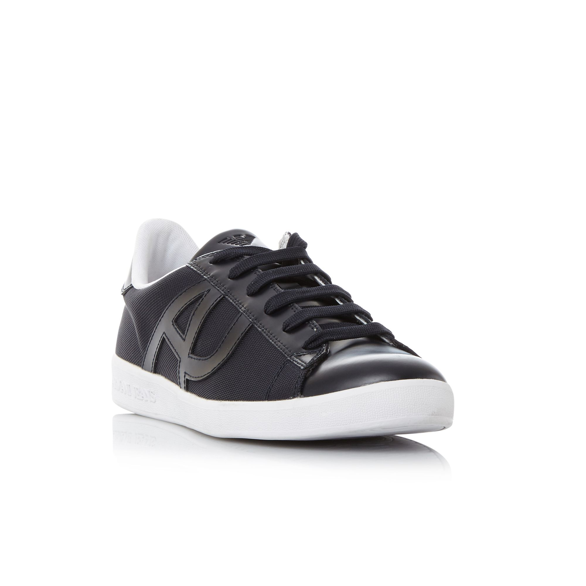 Armani Jeans 0935565cc503 canvas trainers Navy
