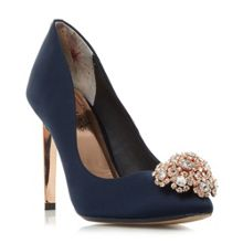 Ted Baker Peetch jewel trim pointed court shoe
