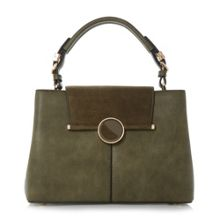 Dune Dorrian circular lock detail handbag
