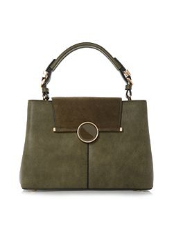 Dorrian circular lock detail handbag
