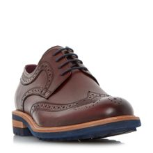 Dune Brixton colour cleated sole brogue shoe