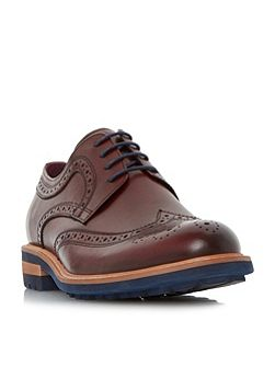Brixton colour cleated sole brogue shoe