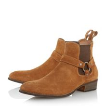 Dune Cowboy Western Ring Detail Boots