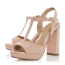 Head Over Heels Missy T Bar Platform Block Heel Sandals
