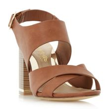 Head Over Heels Jaya Stack Heel Cross Strap Sandals