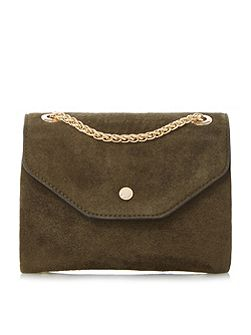 Sara micro suede flap over micro bag