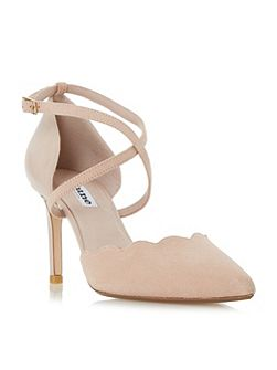 Cerys scallop cut toe part court shoe