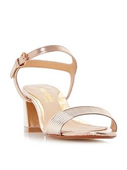 Mandi low block tube strappy sandals
