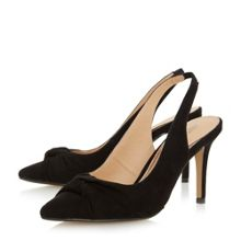 Head Over Heels Charlise knot detail slingback courts