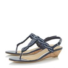 Head Over Heels Naavi beaded plait strap sandals