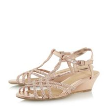 Head Over Heels Kitti plait twist mini wedge sandals