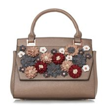 Dune Daisy floral applique embellished handbag