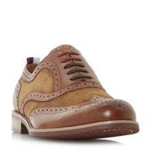Dune Pudsey Leather And Suede Brogue Shoes