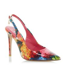 Dune Chelsea floral print sling back courts