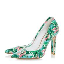 Dune Bora Bora Palm Print Pointed Toe Court Shoes