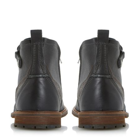 Dune Colonel cleated sole ankle boots