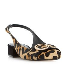 Dune Como Round Buckle Slingback Court Shoes