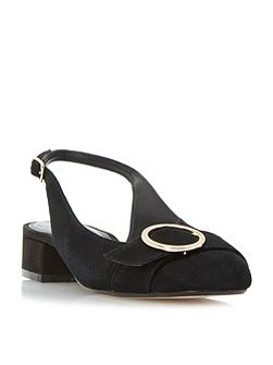Como Round Buckle Slingback Court Shoes