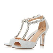 Linea Myra jewel and pearl t-bar peep toe sandals