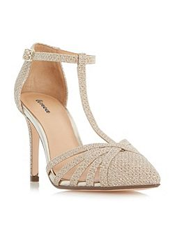 Dilila strappy t-bar court shoes