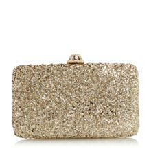 Dune Bramley glitter box clutch bag
