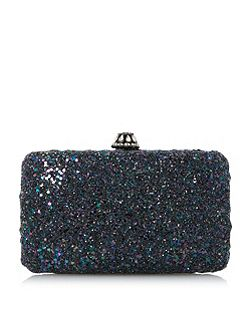 Bramley glitter box clutch bag