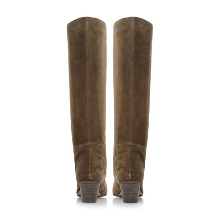 Dune Tarry unlined pull on knee high boots
