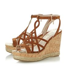 Dune KATIA LASERCUT HIGH WEDGE SANDALS