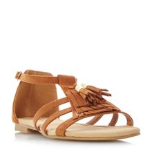 Head Over Heels Lylaa tassle detail flat sandals