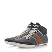 Dune Shandy padded collar high top trainers